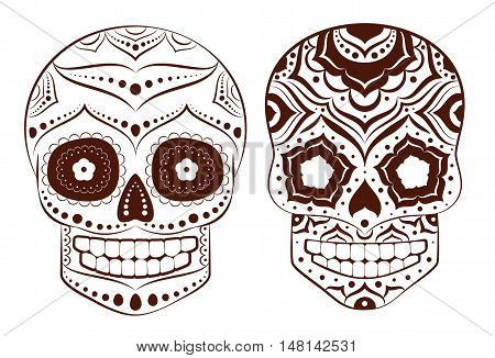 Mexican skull . Veсtor for the Day of the Dead