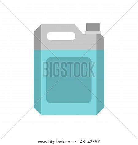 Flask for gasoline icon in flat style isolated on white background. Storage of fuel symbol vector illustration