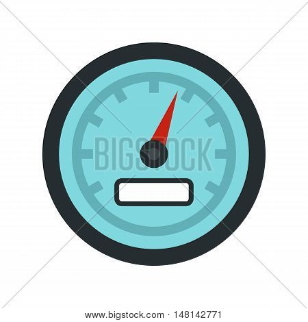 Speedometer icon in flat style isolated on white background. Spare parts symbol vector illustration
