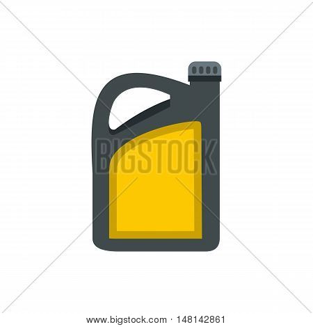 Plastic canister of gasoline icon in flat style isolated on white background. Storage of fuel symbol vector illustration