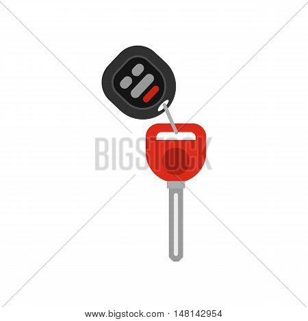 Car key icon in flat style isolated on white background. Open symbol vector illustration