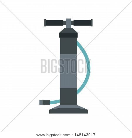 Automotive pump icon in flat style isolated on white background. Tool symbol vector illustration