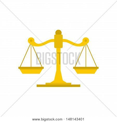 Themis libra icon in flat style isolated on white background. Justice symbol vector illustration
