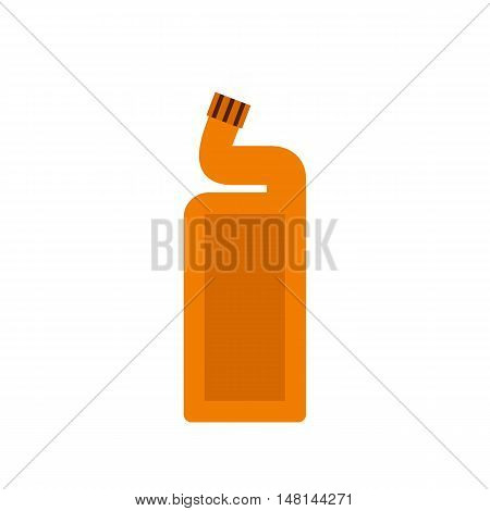 Disinfectant for the bathroom icon in flat style isolated on white background. Cleaning symbol vector illustration