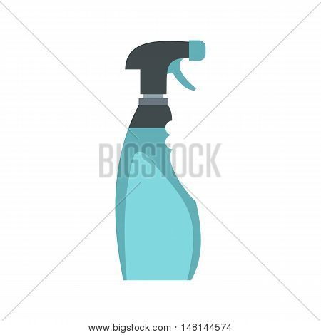 Cleaner for windows icon in flat style isolated on white background. Cleaning symbol vector illustration
