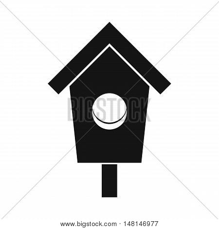 Birdhouse icon in simple style isolated on white background. Bird symbol vector illustration