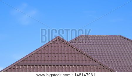 The Roof Of Corrugated Sheet