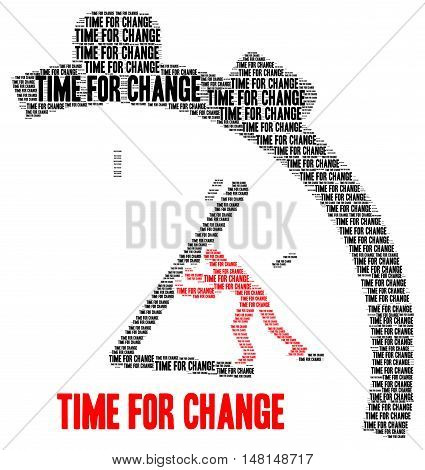 Time for change illustration with a white background