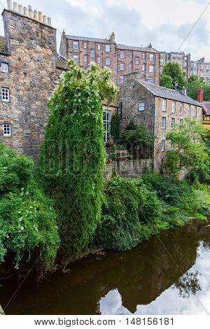 Picturesque Dean Village In Edinburgh, Scotland