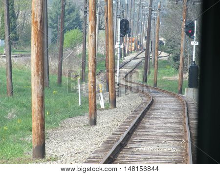Looking  Down  the  Old  Trolley  Line  in  Washington,  Pennsylvania.