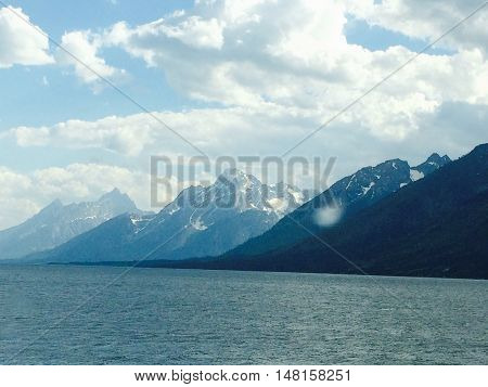 Grand Tetons National park, lake side this summer 2016