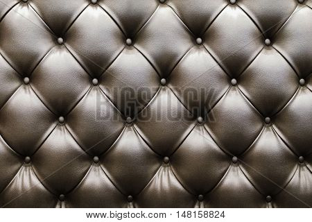 Closeup of Natural brown leather texture with in the shadow
