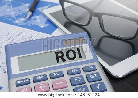 Roi Return On Investment Analysis Concept