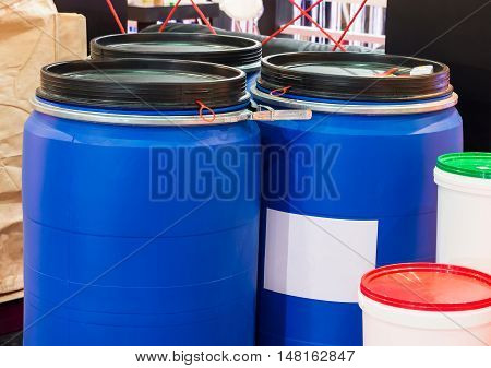 Clean plastic bucket for container in the food industry.