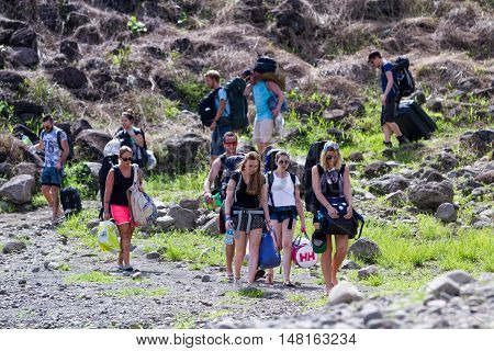 Tourists In Costa Rica