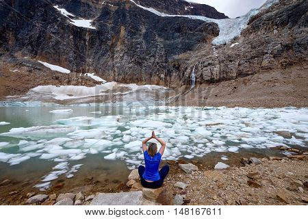 Angel Glacier at Mount Edith Cavell. Jasper National Park. Canadian Rockies. Alberta. Canada.