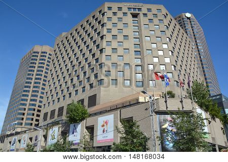 MONTREAL CANADA SEPT 15 2016 :Complexe Desjardins is a mixed-use office, hotel, and shopping mall complex located in Montreal, Quebec, Canada