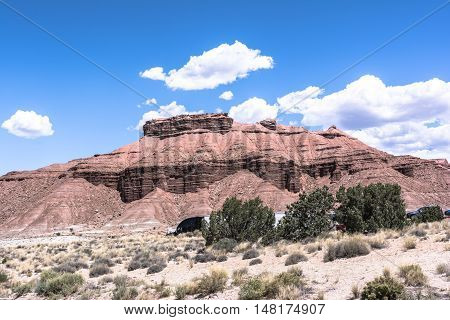 View of Mesas along interstate 70, Utah