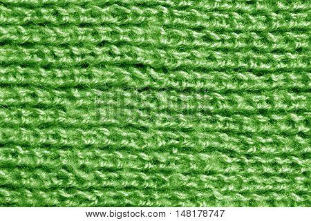 Wool Knitting Green Pattern.