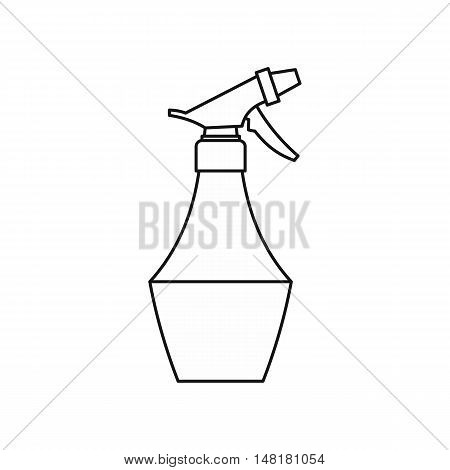 Water spray bottle icon in outline style isolated on white background vector illustration