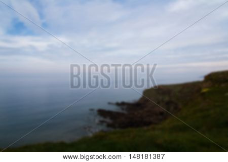 View From The Coastal Path Between Widemouth Bay And Bude Out Of Focus.