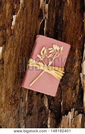 Handmade soap on driftwood wood