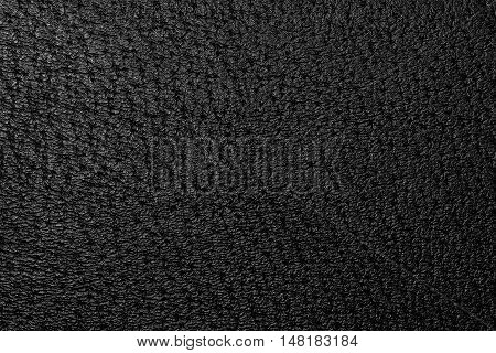 The black leather texture or background .