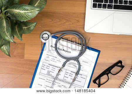 Doctor's Desk In Evening