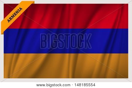 National flag of Armenia - waving edition