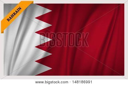 National flag of Bahrain - waving edition