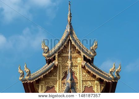 Thai Traditional Design Top-tiered Of Temple.