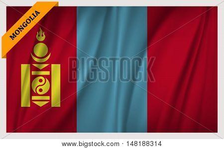 National flag of Mongolia - waving edition