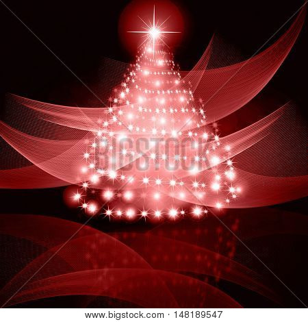 Christmas red Tree background