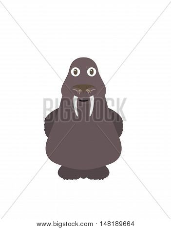 Funny Walrus Character