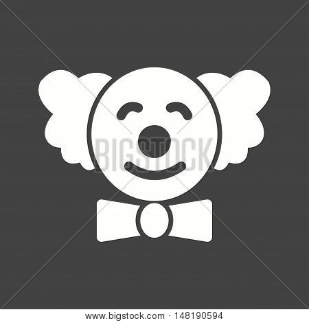 Clown, happy, smiling icon vector image. Can also be used for birthday. Suitable for mobile apps, web apps and print media.