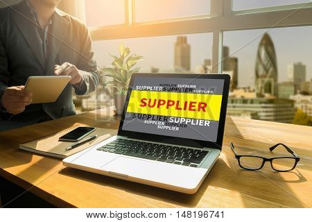 Business Man , Suppliers Concept