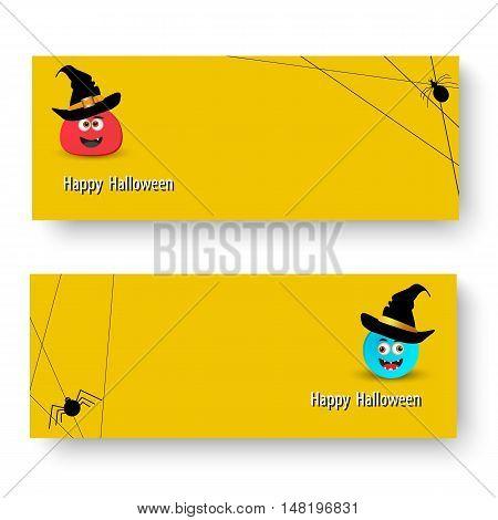 Vector illustration of Set of banner for Halloween EPS10
