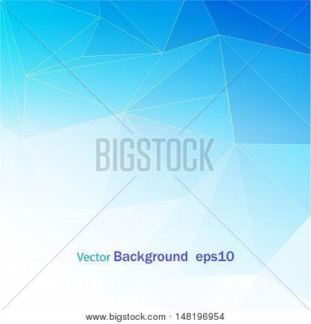 Blue White Polygonal Mosaic Background, Vector illustration, Creative Business Design Templates EPS10