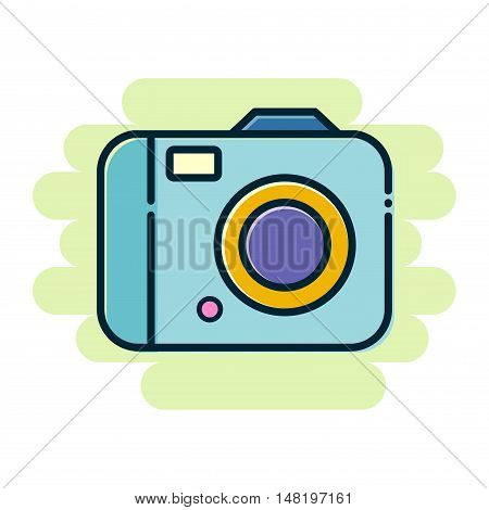 Vector stock of simple colorful digital camera flat icon
