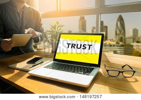 Concept Of Trust Word
