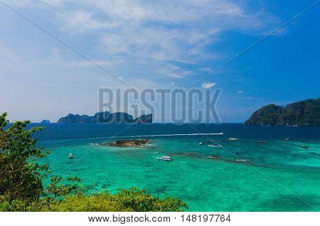 Exotic Backdrop Azure Bay