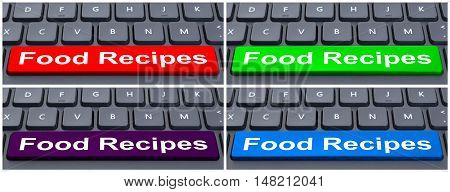 Online E-business Concept With Food Recipes