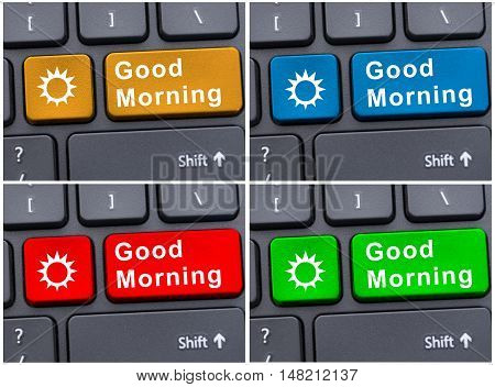 Keypad With Good Morning Message