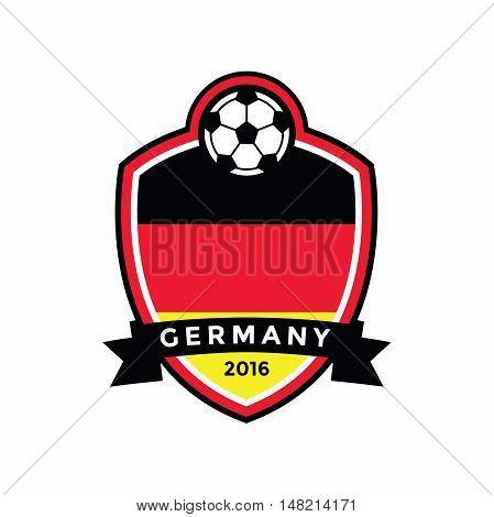 Germany soccer flag color badge .Vector illustration