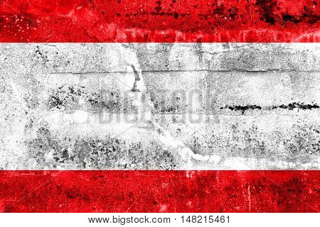 Flag Of Antwerp City, Belgium, Painted On Dirty Wall
