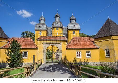 Bridge And Antrance Gate Of The Castle Schloss Holte-stukenbrock