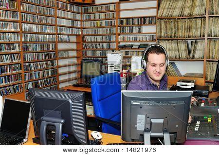 radio station dj reading news and info