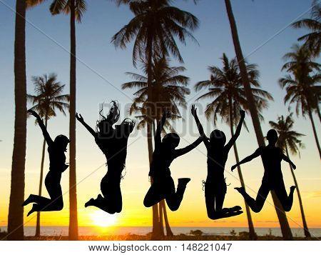 Evening Celebration Backlit Group