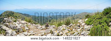 Panorama Bay Of Alcudia, Majorca, Spain