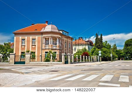 Town of Karlovac street view central Croatia